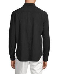 AG Jeans Black Classic Cotton Button-down Shirt for men
