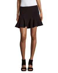 10 Crosby Derek Lam - Black Flared Ruffled Skirt - Lyst