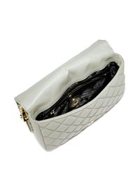 Love Moschino Gray Quilted Faux Leather Shoulder Bag