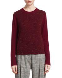 3.1 Phillip Lim Purple Cashmere Colorblock Sweater