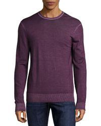 Michael Kors Purple Washed Merino Wool Sweater for men