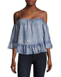 Saks Fifth Avenue - Blue Vena Cold-shoulder Top - Lyst