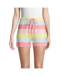 Wildfox Multicolor Carter Striped Shorts