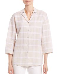 Lafayette 148 New York - Multicolor Analeigh Windowpane Blouse - Lyst