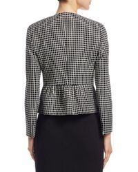 Akris Punto Black Long Sleeve Grid Pattern Jacket