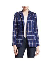 Rag & Bone Blue Ridley Windowpane Jacket