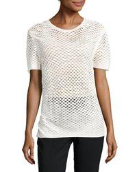 IRO - White Zana Cotton Perforated Top - Lyst