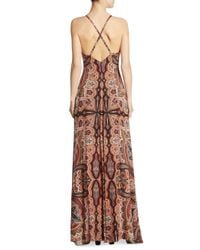 Alice + Olivia Multicolor Alves Paisley-print Crisscross Maxi Dress