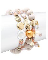 Alanna Bess Multicolor Set Of 3 Multi-stone Bracelets