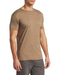 Saks Fifth Avenue Brown Modern Aqua Cotton T-shirt for men