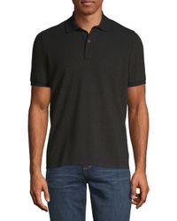 Etro - Black Shimmer Short-sleeve Polo for Men - Lyst