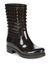 Valentino - Black Studded Rain Boot - Lyst