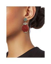 Heidi Daus Multicolor Women's Goldtone, Crystal & Resin Drop Earrings