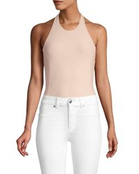 Alix Natural Eleni Halter Bodysuit