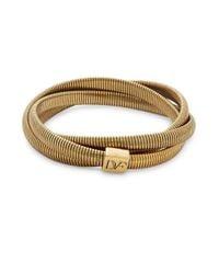 Diane von Furstenberg - Metallic Gemma Mini Interlocking Bracelet - Lyst