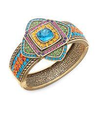 Heidi Daus - Metallic Crystal Art Deco Bangle Bracelet - Lyst