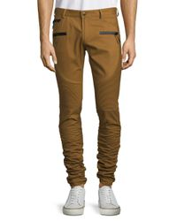 American Stitch Multicolor Zippered Twill Pants for men
