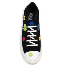 Moschino Black Flower Low-top Sneakers
