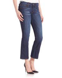 Joe's Jeans Blue Olivia Cropped Flare Jeans