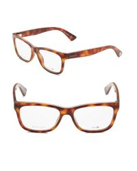 Gucci Brown Wayfarer 57mm Optical Glasses