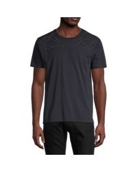 Valentino Multicolor Embellished Cotton Tee for men