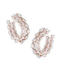 Adriana Orsini - Metallic Tiered Stud Earrings - Lyst