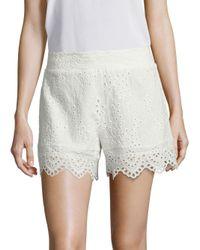 Nightcap White Scalloped Cotton Eyelet Shorts