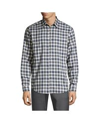Theory Multicolor Irving Betton Plaid Shirt for men