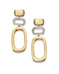 Marco Bicego - Metallic Murano Diamond & 18k Yellow Gold Contrast Link Drop Earrings - Lyst