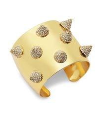 CC SKYE - Metallic Spiked Sterling Silver Cuff Bracelet - Lyst