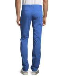 Bugatchi | Blue Solid Cotton-blend Pants for Men | Lyst