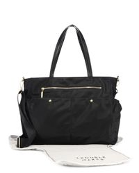 MILLY - Black Solid Diaper Bag - Lyst