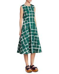 Marni Green Check A-line Dress