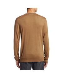 Saks Fifth Avenue Brown Collection Wool & Silk Sweater for men