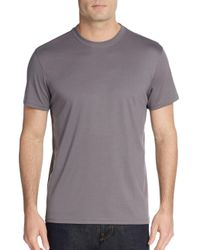 Saks Fifth Avenue - Gray Slim-fit Cotton Pique Polo Shirt for Men - Lyst