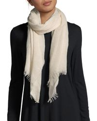 Saks Fifth Avenue - Natural Lightweight Cashmere Scarf - Lyst