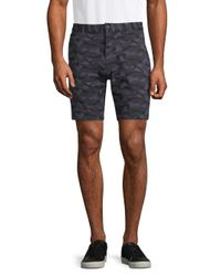 Slate & Stone Blue Camouflage French Terry Shorts for men