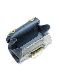 Zac Zac Posen - Blue Eartha Mini Patchwork Crossbody Bag - Lyst
