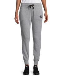 True Religion Gray Two-tone Jogger Pants