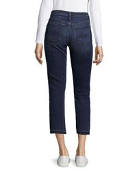 7 For All Mankind Blue Whiskered Crop Boot Jeans
