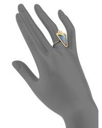 Armenta - Metallic Old World Mother-of-pearl, Sapphire, Quartz, Diamond, 18k Yellow Gold & Sterling Silver Ring - Lyst