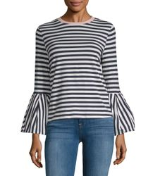 English Factory - Blue Bell-sleeve Top - Lyst