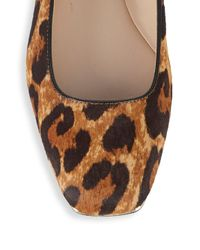 Karl Lagerfeld Brown Calf Hair & Leather Ballet Flats