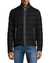 The Kooples Black Padded Flannel Jacket for men