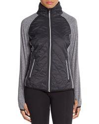 Kensie Gray Colorblock Track Jacket