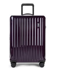Bric's Purple Riccione Spinner Carry-on Suitcase for men