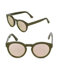 Sunday Somewhere Green 49mm Kiteys Tinted Sunglasses