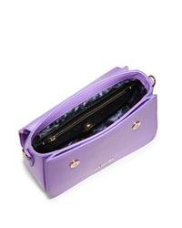 Love Moschino Purple Heart Crossbody Satchel Bag