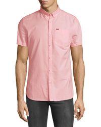 Superdry Pink Ultimate Short Sleeve Oxford Shirt for men