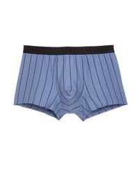 Hanro Blue Shadow Boxer Briefs for men